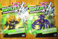 Teenage Mutant Ninja Turtles DIMENSION X MOZAR & LORD DREGG FIGURE SET EXCLUSIVE