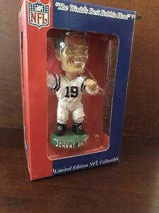 JOHNNY UNITAS NFL BOBBLE HEAD DREAMS COLLECTIBLE LIMITED EDITION NIB - RARE