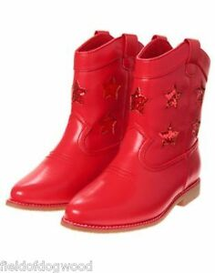 NWT Gymboree Fourth 4th of July Red Star Cowgirl Boots Booties RED White CUTE