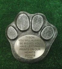 Dog Large Pet Memorial/headstone/stone/grave marker/memorial paw laminate  no 3