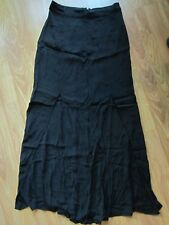 WOMENS NEW LOOK BLACK FRONT 2 SLITS MAXI SKIRT LONG SKIRT SIZE 4 US / 36 EUR NWT