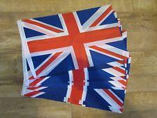 """10 x UNION JACK 18"""" X 12"""" TREEHOUSE COURTESY CARAVAN SLEEVED FLAGS"""