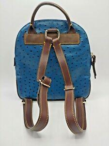 Beautiful NEW Dooney & Bourke Teal Leather Zip Pod Backpack OT087 TE O1