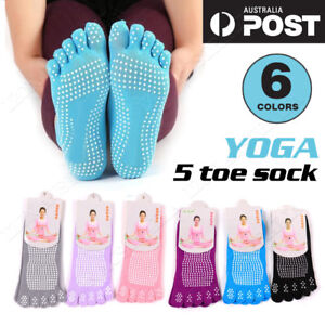 Vivva 1/3 Pairs Yoga Non Slip Pilates Massage 5 Toe Socks Exercise Gym Fitness