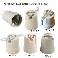 CERAMIC Porcelain ES27 e27 EDISON SCREW Heat Bulb Lamp Holder Lampholder