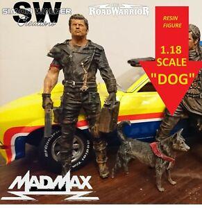 "1/18 resin model MAD MAX ROAD WARRIOR ""DOG"" custom made figure"