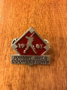 1981 JOHNNY MIZE COOPERSTOWN HALL OF FAME PIN FROM JOHNNY MIZE ESTATE