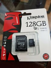 NEW!! Kingston 128GB Micro SD Memory Card 45MB/s UHS-1 Class 10 +ADAPTER