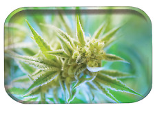 "Portable Storage Bud Metal Rolling Tray Compact Travel Size 11""x7"" Medium"