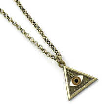 Fantastic Beasts Harry Potter Triangle Eye Necklace Pendant Chain Jewellery