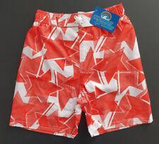 BNWT Boys Sz 4 Smart Wave Tribe Red White Tie Waist Swim Board Shorts