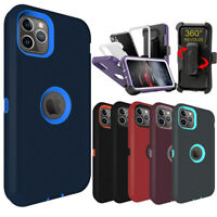 For iPhone 11 ,11 Pro Max Shockproof Defender Phone Armor Case Cover+Belt Clip