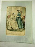 Magasin Des Demoiselles  Amais Loudouoze Desjardins 3/20/1800 Handtinted Engravi