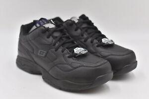 Men's Skechers For Work Memory Foam Felton For Work Lace Up Sneakers, Black 8.5W