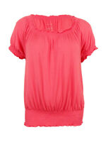 INC International Concepts Women's Off-Shoulder Peasant Top (XXL Polished Coral)