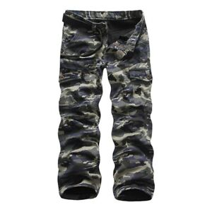 Men's Field Army Overalls Cargo Camouflage Pants Trousers Outdoor Cotton Fashion
