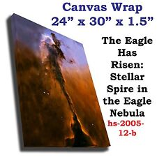 Stellar Spire Eagle Nebula Hubble JPL NASA space telescope Canvas Wrap art print