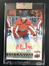 2018-19 Upper Deck Clear Cut UD Canvas Red Ink Evgeny Kuznetsov /92