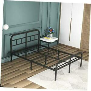 Bed Frame with Headboard and Footboard Metal Platform Bed California King