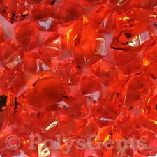 50 MIXED RED ACRYLIC ICE CHUNKS VASE FILLERS WEDDING TABLE DECORATIONS