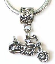 Motorcycle Dangle Charm Pendant for European Charm Bracelet or Necklace