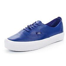 Vans Leather Authentic Decon Lite Sneakers Shoes, Blue, 3.5 Men's / 5 Women's