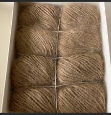 Vintage Aca Supreme 100% Pure Angora Rabbit Hair Yarn 8 Ball New Color-Mink