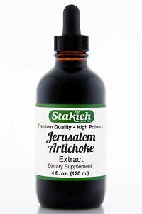 4 oz Jerusalem Artichoke Extract High Quality 100% Pure Herbal Tincture