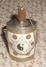Vintage Snuff Bottle Boox w/ Spoon Pendant An Eastern Yin-Yang & Owl Symbols