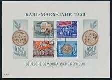 DDR Block 9 B YII gestempelt, Marxblock geschnitten, Tagesstempel WEIMAR (50897)