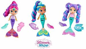 Shimmer & Shine Magic Mermaid Shimmer, Shine, Nila Bath Doll