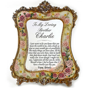 Brother Personalised Gift Frame - Thank You Birthday Gifts Christmas Graduation