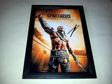 "SPARTACUS : GODS OF ARENA PP SIGNED & FRAMED 12""X8"" POSTER DUSTIN CLARE"