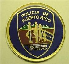 """POLICIA de PUERTO RICO BLUE 2"""" EPOXY CAR EMBLEM STICKER NEW"""