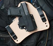 Concealed Natural Leather Gun Holster for Glock 26 27 33