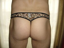 String taille M   léopard marron  transparent total Ref S28 sexy neofan