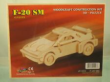 """2.5""""TALL F-20 FERARRI SM 43 pcs. 3D Woodcraft Puzzle"""