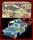 1955 TOYMASTER Space Survey Jeep Tin with Pro Repro Box COMPLETE JAPAN VERY RARE
