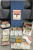 Vintage Monopoly 1951 Parker Brothers Game Wooden Game Pieces Hotels Houses Dice