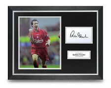 Robbie Fowler Signed 16x12 Framed Photo Display Liverpool Autograph Memorabilia