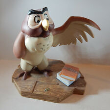 "DISNEY POOH & FRIENDS ""YOU'VE DONE A VERY GRAND THING"" OWL FIGURINE 4 1/2"""
