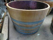 Round  Half Wine barrels  approx 75cm diameter 47cm hgt   $108-00 ea