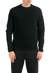 Versace Men's Wool Crewneck Black Sweater US S IT 48