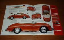 ★1956 PORSCHE 356 SPEEDSTER ORIGINAL IMP BROCHURE 56 55 54 INFO SPECS JAMES DEAN