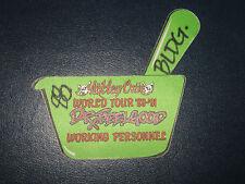 MOTLEY CRUE ORIGINAL 1989-1991 OTTO BACKSTAGE PASS**DR FEELGOOD TOUR**
