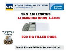 GYS 920 TIG aluminium ENTONNOIR soudage tiges 1.6mm 5kg 1M mètre longueurs ALMG5