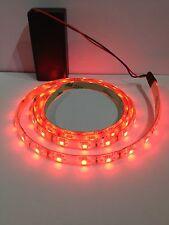 Asta TELESCOPICA Flag Rosso LED Luce, 9v A BATTERIA 500mm impermeabile striscia.
