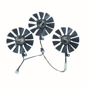3PCS/Set T129215SU T129215SM graphics card fan for ASUS ROG Strix RX VEGA64 8GB