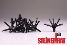 LEGO® 10x 19119 (-NEU-) Pflanze mit 6 Einzelstielen / Blume / schwarz / 6299824