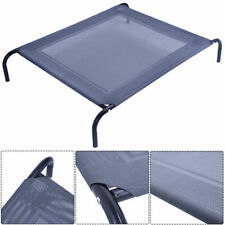 Costway Large Dog Cat Bed Elevated Pet Cot Indoor Outdoor Camping Steel Frame